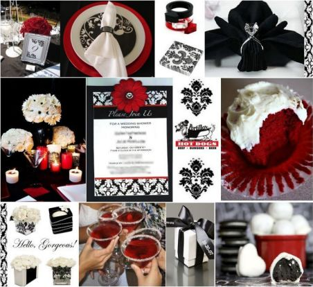 Black And White Centerpieces For Wedding Tables