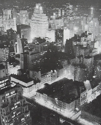 Times square from above looking south east vintage 1940s new york city