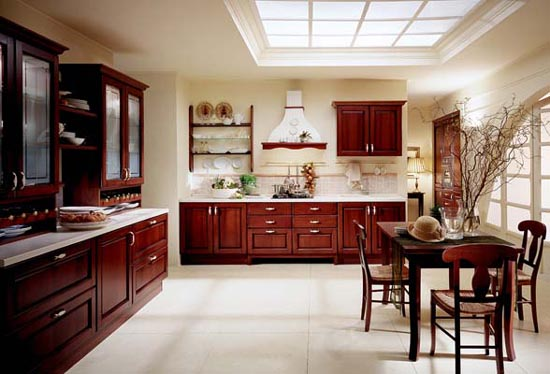 Interiors italian style wooden kitchen designs for Italian kitchen design