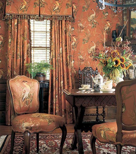 Interiors classic room wallpapers design for Classic room design