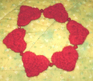 Heart Friendship Bracelet Crochet Pattern