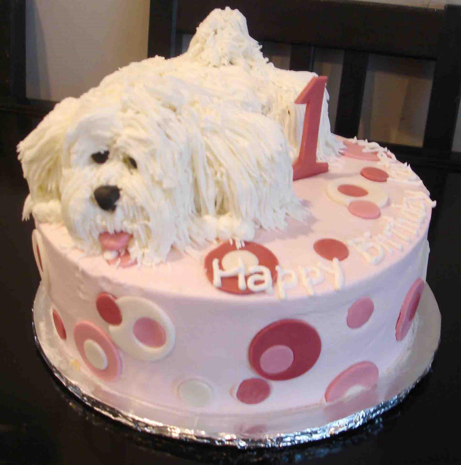 dog birthday cake design