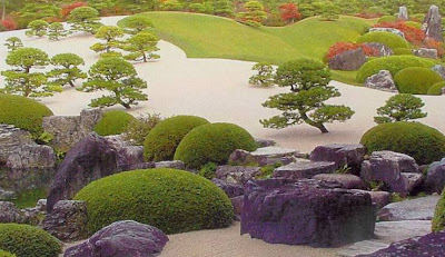 in a Japanese Zen garden.