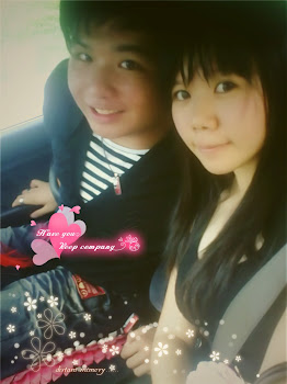 hubby zai and me in car