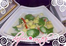 lodeh oyong jagung dapur cantik