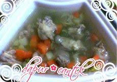 sup ayam tahu udang dapur cantik