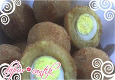 kroket kentang isi telur puyuh dapur cantik