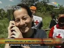 Clara Rojas fala com Hugo Chávez, direto da selva colombiana, e agradece sua ajuda