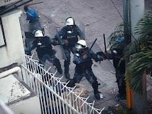 Repressão do governo golpista contra o povo