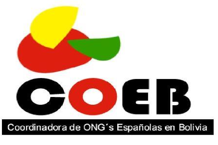 COORDINADORA DE ONG ESPAÑOLAS EN BOLIVIA