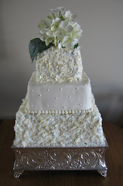 3-tier square fondant and coconut