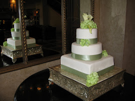 3-tier square and round fondant