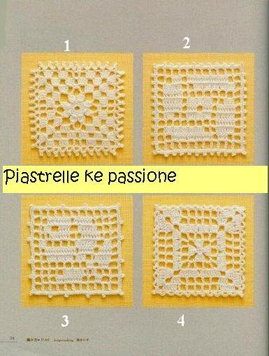 Ale dolce ale piastrelle a filet for Piastrelle uncinetto filet schemi