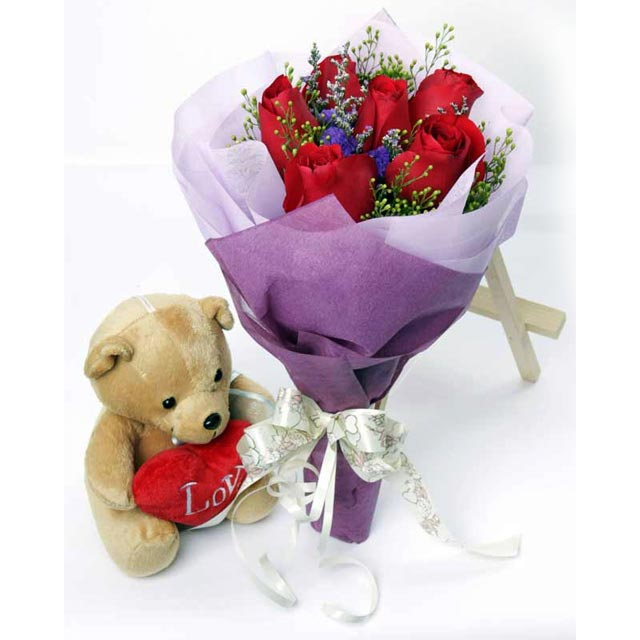 Send bouquet of flower and homemade chocolate to your love one in affordable price. Order now!
