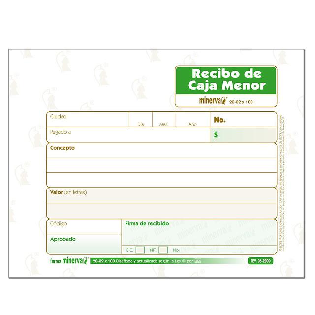 formatos de recibos de caja gratis