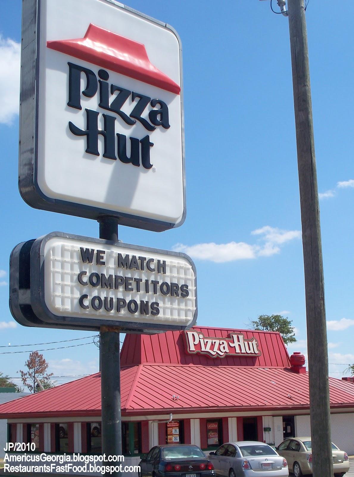 Pizza Hut Restaurant Americus Georgia Sumter County Ga