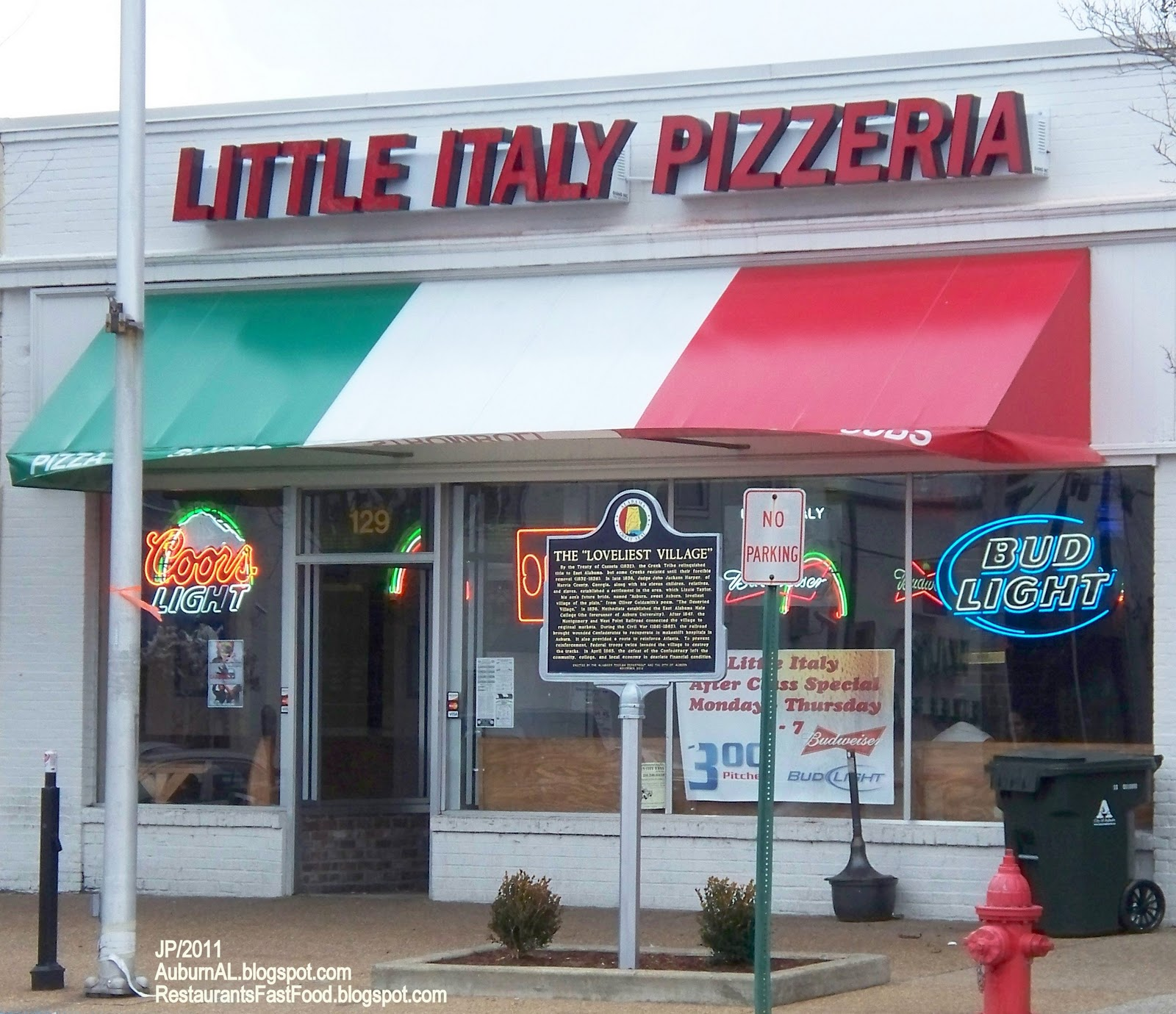 Little Italy Pizza Auburn Alabama East Magnolia Avenue Pizzeria Restaurant Al Beer Slices