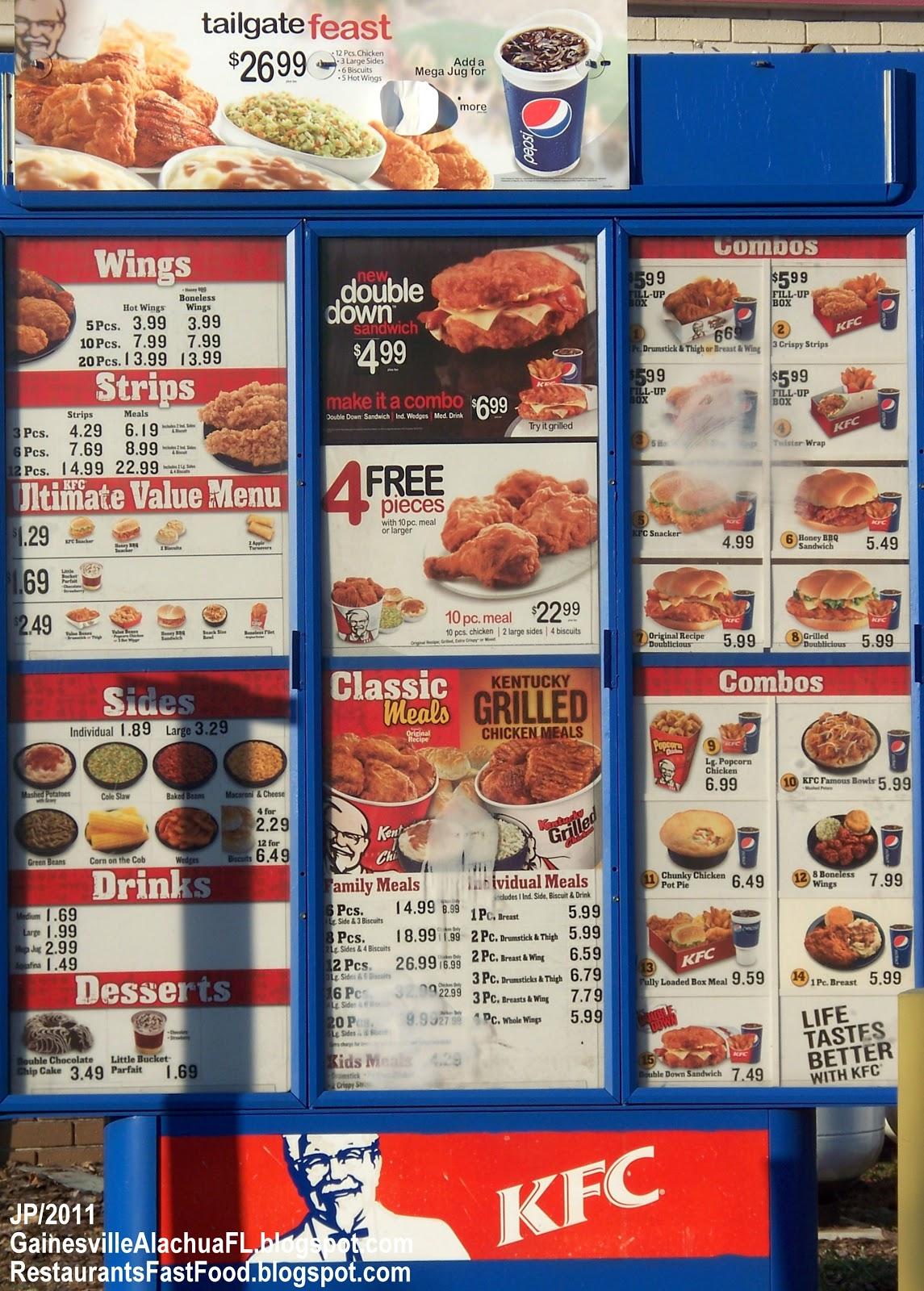 Kfc Food Menu Prices Kfc Menu Prices Have Kfc Menu