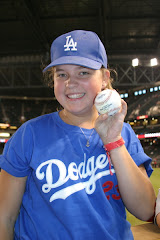 Christina at the Dodger/Diamondback game