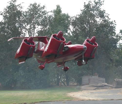 Mobil Terbang Lepas Landas Secara Vertikal