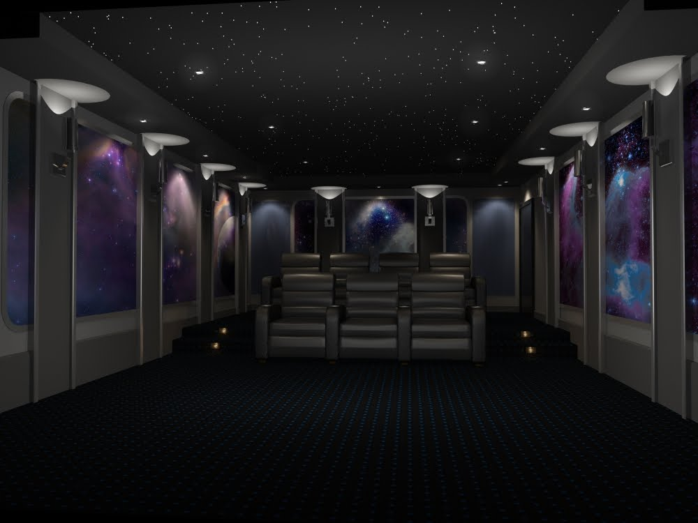 SpaceThemed Home Theater