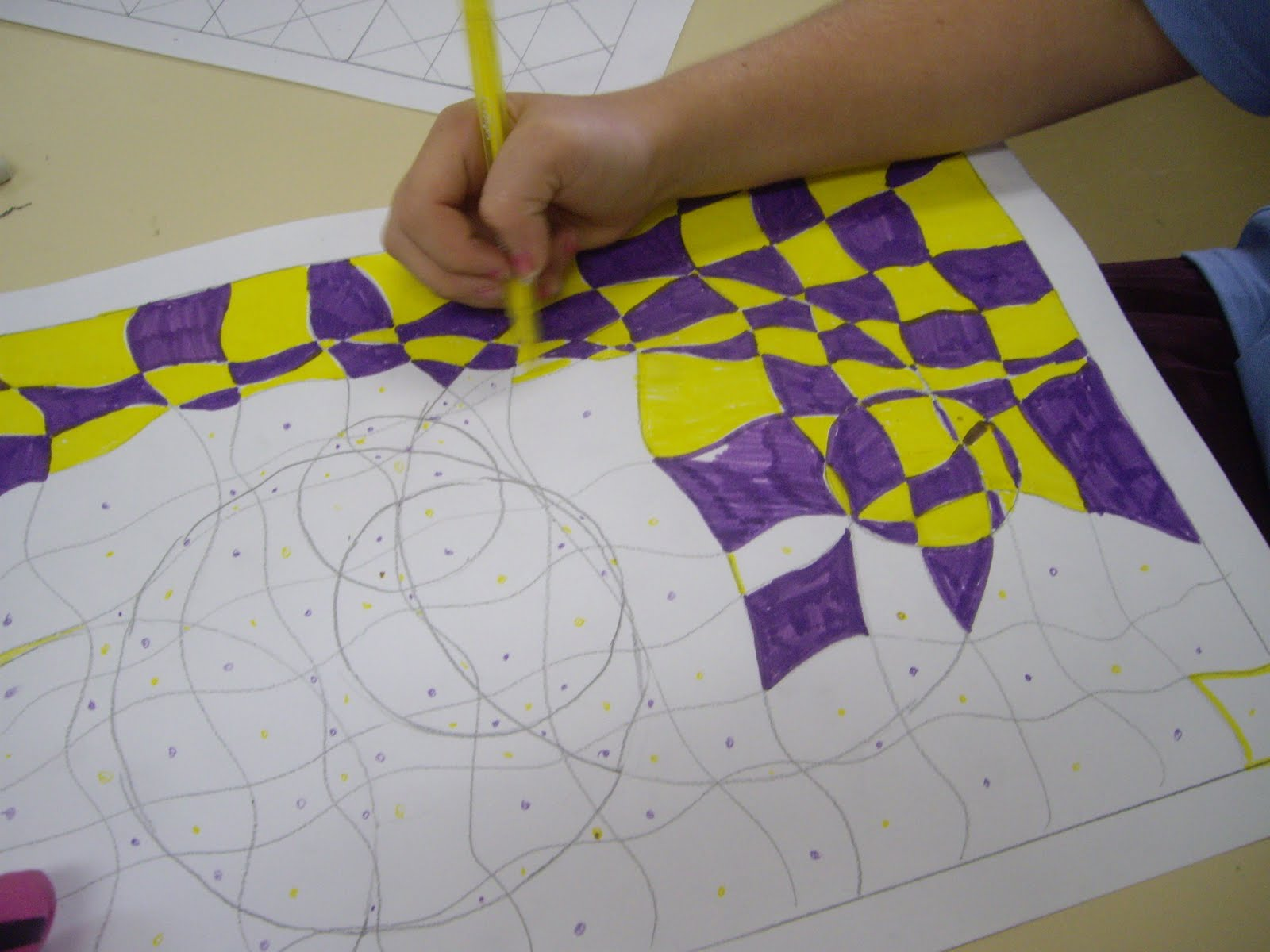 Op Art Line Design Lesson : Use your coloured pencils op art drawings