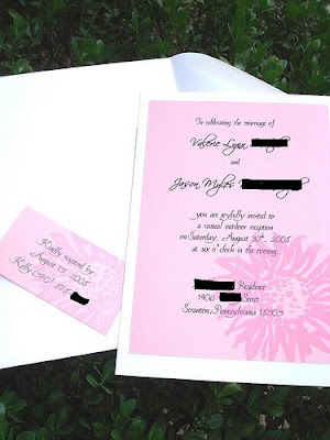DIY Wedding Invitations by Mr Mrs Ian Shaw