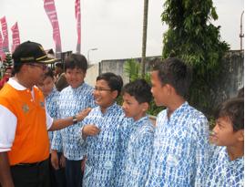 Peletakan Batu Pertama Musholla Attarbiyah oleh Wawali H.M.Rizal Effendi,SE Tahun 2009