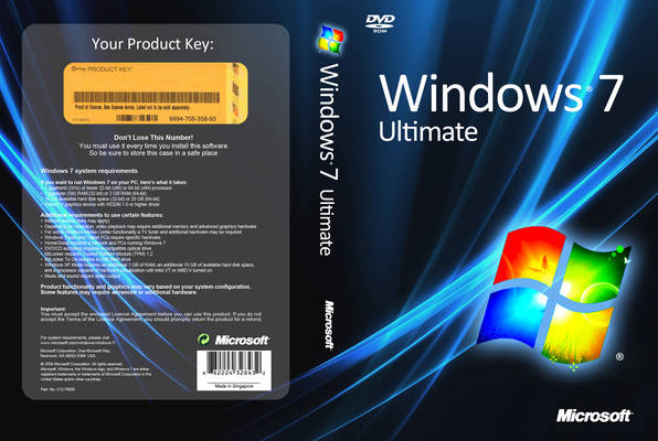Windows 7 Ultimate SP1 x64 PTBR Maio de 2014 Microsoft Windows 7 Ultimate Front Cover 6876