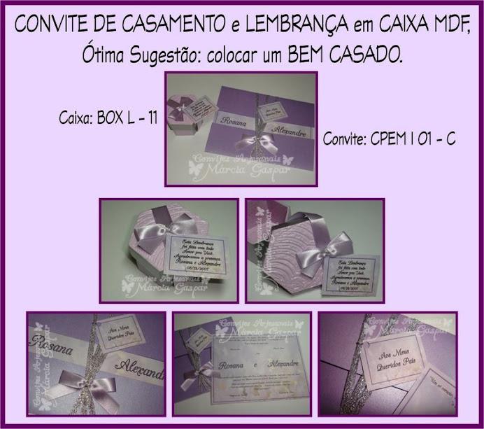 Convite lilás com lacinho lilás e prata