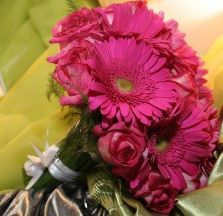 Bouquet de gérberas e rosas