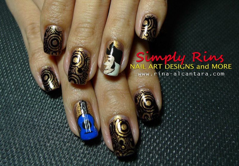 the Lacquerista: The winner of the Rock \'n Roll nail art challenge ...