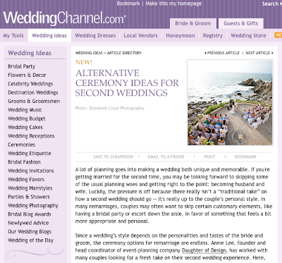 WeddingChannel.com article!