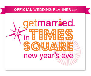 Selected as the wedding planner for Getmarried.com's Times Square Wedding on NYE!
