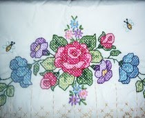 cross stitch pillowcase