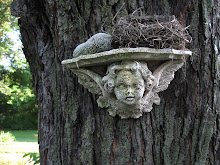 Angel on tree with nest