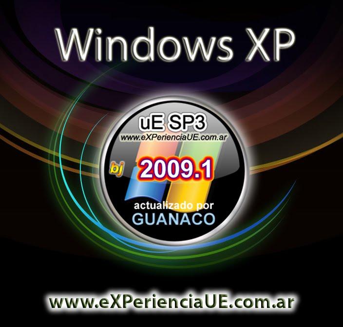 Windows XP uE SP3 2009.1 Bj (Actualizado por Guanaco)