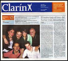 """Clarín  - """"El teatro bajo el tono del humor más desopilante"""""""