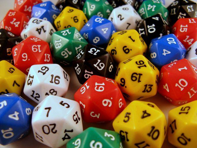 random 20 sided dice generator