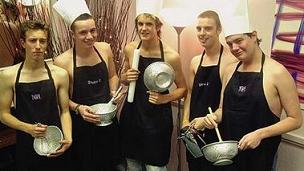 Never mind the Calendar Girls - meet the Colander Boys!