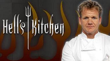 Britain's top celebrity chef runs &quot;Hells Kitchen&quot;