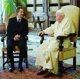 The Holy One meets the Pope