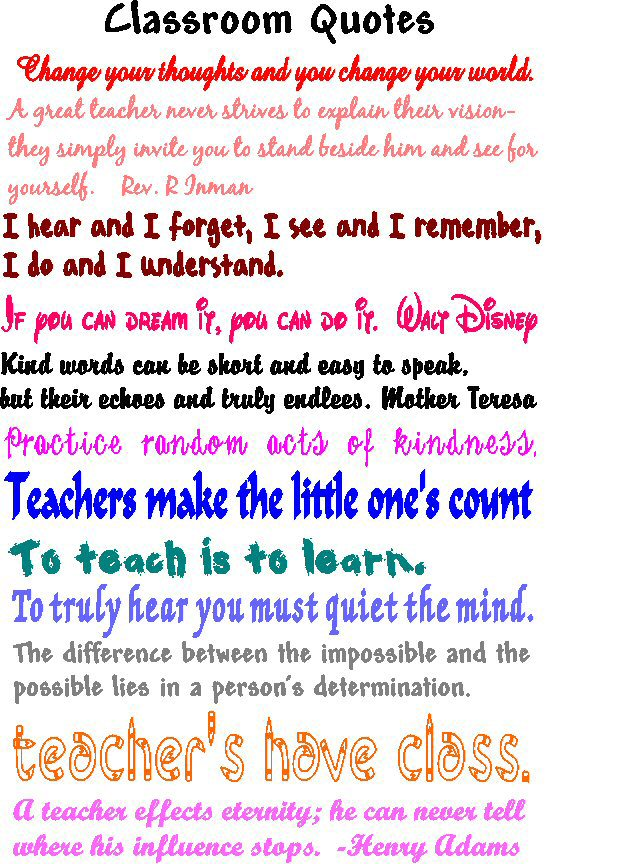 Teaching Ideas Classroom Quotes ~ Quot be your best self