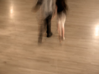 photograph of people in motion, blur