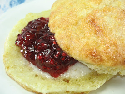 RASPBERRY-CURRANT JAM and CREAM SCONES