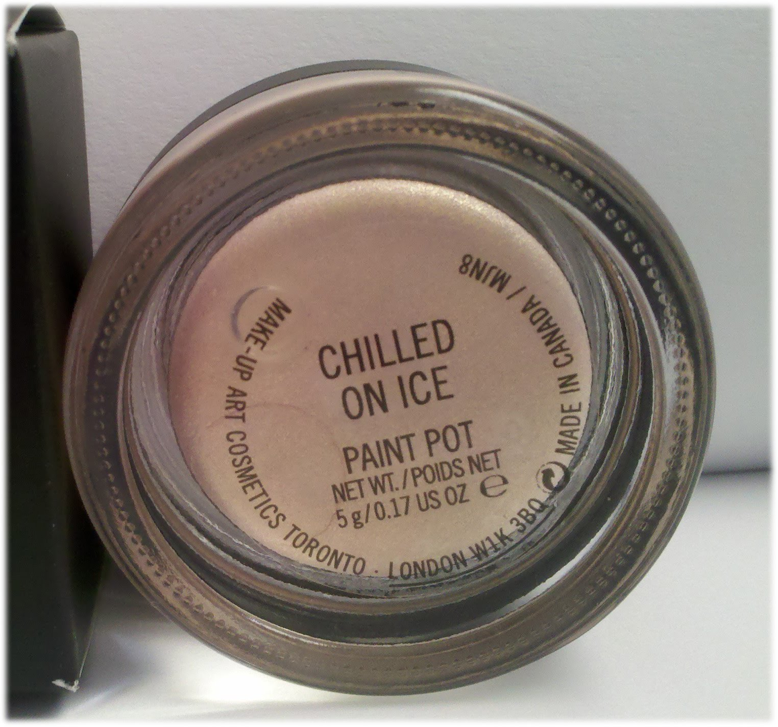 s makeup addiction chilled on paint pot mac cham pale collection