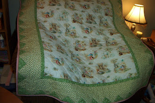 Beatrix Potter baby quilt - bound! | Flickr - Photo Sharing!