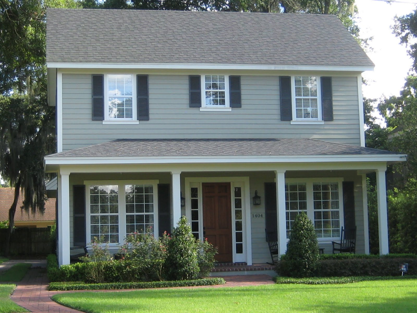 Green street exterior house color contenders - Home exterior paint ...