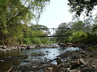 Rio Seco, Miramar, Puntarenas near Miramar, Puntarenas (Costa Rica) a tributary leading to the ocean where contaminates from the leaching process have been discovered