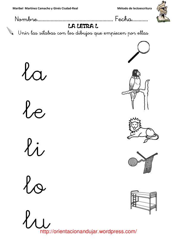A m me gusta el cole letra l for Para desarrollar una entrada practica